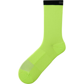 Shimano Original Chaussettes mi-hautes, lime yellow